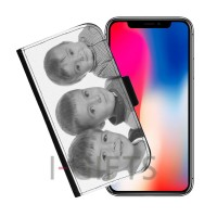 Conf. 2 Flip Cover per iPhone X